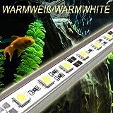 OCS.tec LED Aquariumbeleuchtung PowerLED Easy Leuchte Lampe 60cm (warmweiss) Tageslichtsimulator Sonnenuntergang Mondlicht HQI T8 AB4WW
