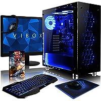 "VIBOX Nebula GS850-58 Gaming PC Ordenador de sobremesa con Cupón de juego, 22"" HD Monitor (4,2GHz AMD FX 8-Core Procesador, Nvidia GeForce GTX 1050 Tarjeta Grafica, 16GB RAM, 1TB HDD, Sin OS)"