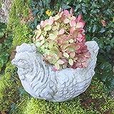 Antikas - Pflanzgefäß als Huhn - Blumentopf Kräutertöpfe Terrasse, Pflanztöpfe Küche