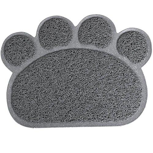 ueetek Tappeto ALIMENTAZIONE PER Animale Da Compagnia Tappetino lettiera per gatti 30x 40cm (Grigio)