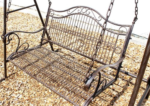 DanDiBo Schaukel 082505 Hollywoodschaukel aus Metall Schmiedeeisen Gartenschaukel (1) - 3