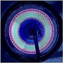 Lmeno DIY 30 Farbmuster Fahrrad Speichenlicht Speichenreflektor 16 LED Fahrrad sprach Lichter Wasserdicht Radfahren Rad Reifen Ventil Lichter Speichen Licht Lampe Blinker Spoke Beleuchtung Sicherheit Signal lights