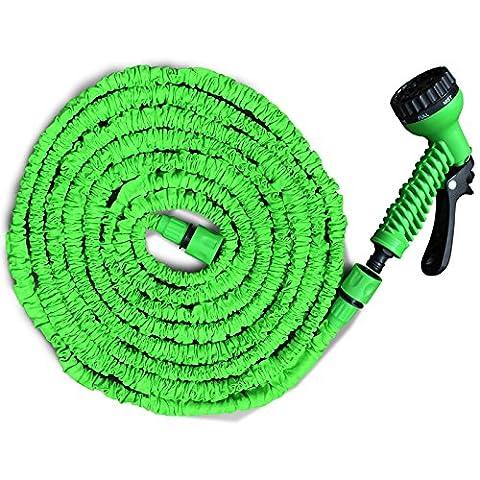 Flexibler Gartenschlauch   geringes Gewicht & platzsparende Aufbewahrung   inkl. Brause mit 7 Funktionen   drei Längen wählbar