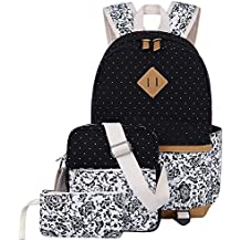 Zaino Casual Scuola Set 3pcs Daypacks / Canvas Backpack Tela Zaini Ragazza / Donna+ Messenger Bag + Purse