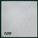 20 m2 Deckenplatten Styroporplatten Stuck Decke Dekor Platten 50x50cm, Nr.109