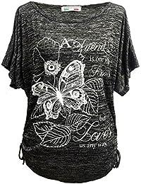 Emma & Giovanni - T-shirt Papillons Manche Courte - Femme