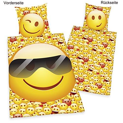 Emoji Bettwäsche Young Coll. Emot!x –  100 % Baumwolle – Linon – Herding 4459210050 - 2