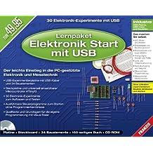 Lernpaket Elektronik Start mit USB, 1 CD-ROM + Platine + Steckborad + 34 Bauelemente + Handbuch 30 Elektronik-Experimente mit USB. Der leichte Einstieg in die PC-gestützte Elektronik und Messtechnik