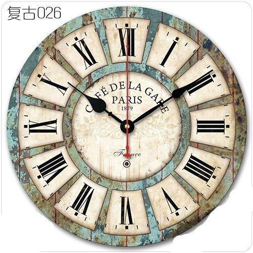 Y-Hui Massivholz gedämpften Wohnzimmer Wanduhr Holz- Uhr auf dem Tisch, 12 cm, blau 026 (Uhr Wohnzimmer Tisch)