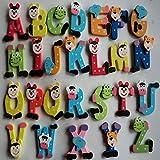 Juguetes Bebes Madera 26 Unids de Dibujos Animados del Alfabeto A-Z...