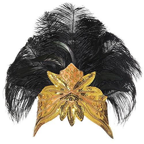band Damen Gatsby Kostüm Accessoires 20er Jahre Flapper Feder Haarband (20er Jahre Kostüme Für Frauen)