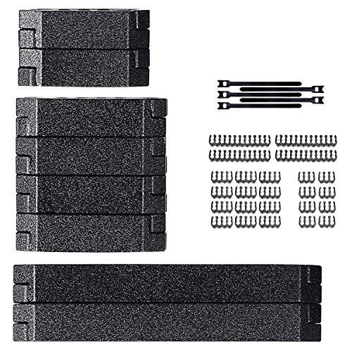 upHere 8 PCS Set Aluminium-PC-Kabelkämme = 24-Pin x 2,8-Pin x 4,6-Pin x 2-Sleeves mit Motherboard ATU-Erweiterungen/CM325