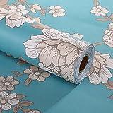 Decorativo floral Contacto Papel autoadhesivo cajón estante maletero extraíble Peel y Stick - Papel pintado para estantes cajón muebles decoración de