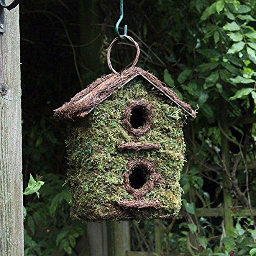 Bush Holz Zwei Storey Wild Bird Garten Nistkasten