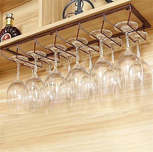 George FF Bronze hängende montiert Metall Weinregal, europäische Eisen Weinglas hängenden Rack