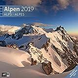 Alpen 2019, Wandkalender / Broschürenkalender im Hochformat (aufgeklappt 30x60 cm) - Geschenk-Kalender mit Monatskalendarium zum Eintragen