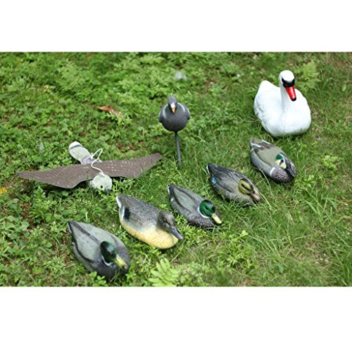 ELECTROPRIME Full Size White Swan Decoy for Hunting &Fishing Floating Swan Bird Scarecrow