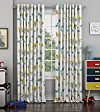 Best Home Fashion Sheer Curtains - Curtain Label Dino Dino Kids Cotton Eyelet Curtain Review