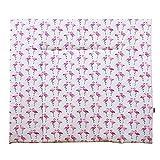 lounge-zone Wickeldecke Flamingo, 100% Baumwolle, 84x76cm, Rosa-Weiß 14607