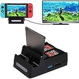 Shumeifang Dock di Ricarica per Nintendo Switch, Dock TV per Ricarica compattoportatile per Switch, Porta di ingressoalimenta