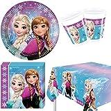 Frozen Aurora Boreal Polar vajilla para fiesta para 8