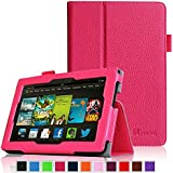 """Fintie Kindle Fire HD 7"""" (2013 Old Model) Slim Fit Folio Case with Auto Sleep / Wake Feature (will only fit Amazon Kindle Fire HD 7, Previous Generation - 3rd), Giraffe Purple"""