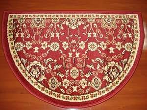 Design classique FOYER Tapis, rouge/bordeaux, cheminée Lodge Cabine 55,9x 86,4cm ignifuge