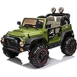 Mondial Toys Auto ELETTRICA 12V per Bambini 2 POSTI Maxi Fuoristrada con Telecomando 2.4G Soft Start AMMORTIZZATORI Full Opti