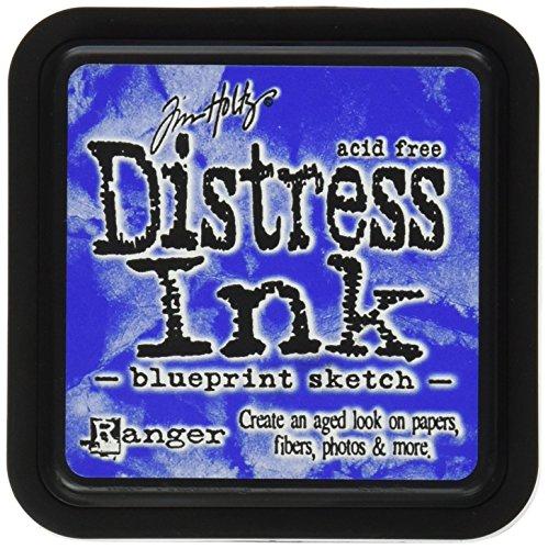 Ranger Tim Holtz Distress Ink Pad, Kunststoff, Blueprint Sketch, 7.5 x 7.5 x 51 cm (Vintage Photo Distress Ink)