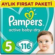 Prima Bebek Bezi Aktif Bebek 5 Beden Junior Aylık Fırsat Paketi, 116 Adet