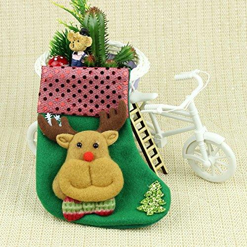 YUYU Decorazioni di Natale che pendono piccole calze di Natale , 1