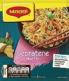 Maggi Fix für Gebratene Nudeln - Nudeln mit Geschnetzeltem, Lauch und Karotte - mit Chili, Ingwer und Koriander, asiatisch, 3 Portionen, 26 g