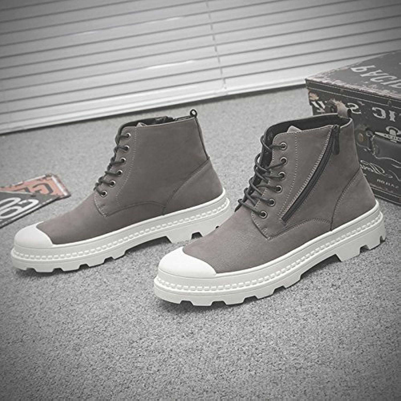 HL-PYL-Martin hombres botas botas para alta zapatos. Botines All-Match,41,gris  -