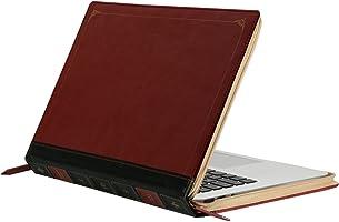 MOSISO Coque Rétro MacBook Air 13 Pouces A1466/A1369,Housse de Couverture Classique Premium PU Cuir Zippé Protection MacBook Air 13 Pouces, Vin Rouge