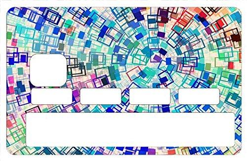 Stickers CB, decoratif, pour carte bancaire, Color - crée par le DgedeNice - autocollant de haute qualité, création & fabrication Française