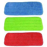 3Stk Microfaser Reinigung Pads für Spray Mops Reveal Mops Waschbar 42 x 14 cm