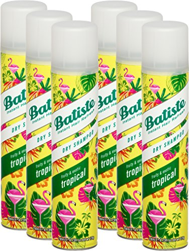 Batiste Trockenshampoo Dry Shampoo Coconut & Exotic Tropical, Frisches Haar für alle Haartypen, 6er Pack (6 x 200 ml)