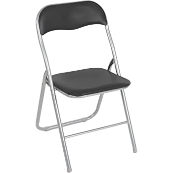 2008AN0816 Set 4 sedie Pieghevoli Grigie Ass. Lione Imbottita con Base Metallo. Media Wave Store ®