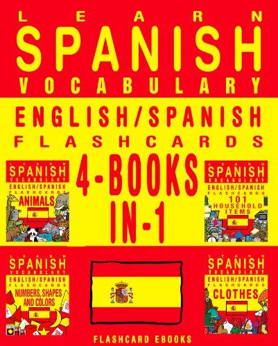 PDF Learn Spanish Vocabulary - English/Spanish Flashcards - 4 Books