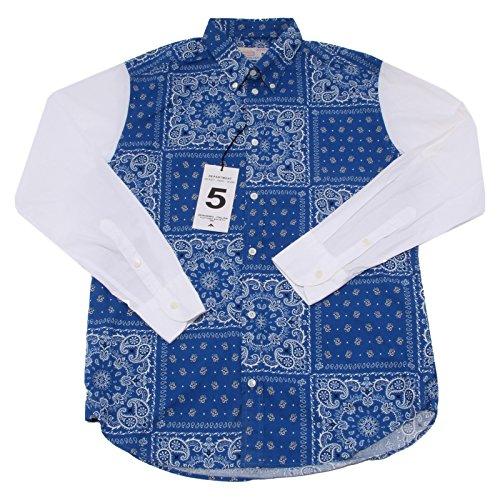 7388Q camicia uomo DEPARTMENT 5 blu/bianco shirt long sleeve men [40]