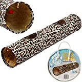 Me & My Pets Leopard Print Cat Play Tunnel