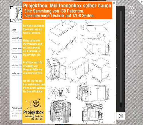 m lltonnenbox selber bauen deine projektbox inkl 159 original patenten bringt dich mit spa. Black Bedroom Furniture Sets. Home Design Ideas
