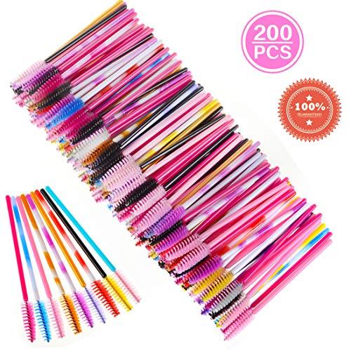 Wimpernbürsten Einweg Mascara Bürstchen, Mehrfarbig, 200 Stück -