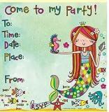 Meerjungfrau Party Einladungen