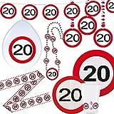 Cinta de contención 20 cumpleaños señal de tráfico Banner fie