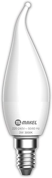 Makel Led Ampul, 3 W, Mum Buji Tipi 3000 K, Warm White,
