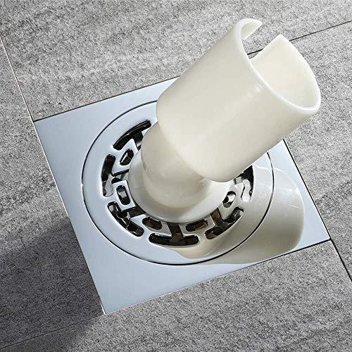 KLMNV;KLBVB Bodenablauf Waschmaschine Siphon aus reinem Kupfer, großer Stärke, abnehmbaren Deckel, Deodorant/Insektenschutzmittel/Antiblock, Bad Siphon Balkonboden Siphon 100x100mm
