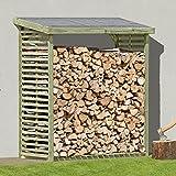 Kaminholzregal für 2,3 m³ Brennholz Brennholzregal Holz KDI für aussen von Gartenpirat®