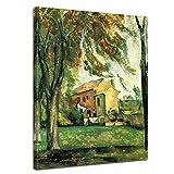 Wandbild Paul Cézanne Jas de Bouffan - 50x70cm hochkant - Alte Meister Berühmte Gemälde Leinwandbild Kunstdruck Bild auf Leinwand