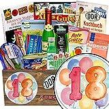 18 Jubiläum Geschenk | Spezial Geschenk Box | Geschenk Ideen | DDR Paket | Geschenk zum 18. | GRATIS DDR Kochbuch